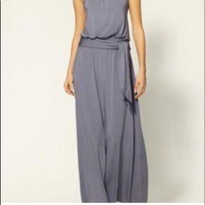 Michael Stars Black halter cotton maxi dress Large